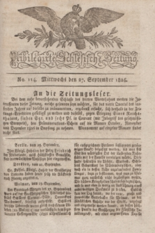 Privilegirte Schlesische Zeitung. 1826, No. 114 (27 September) + dod.