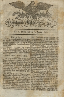 Privilegirte Schlesische Zeitung. 1827, No. 2 (3 Januar) + dod.