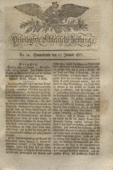 Privilegirte Schlesische Zeitung. 1827, No. 12 (27 Januar) + dod.
