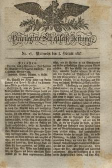 Privilegirte Schlesische Zeitung. 1827, No. 17 (7 Februar) + dod.