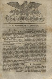 Privilegirte Schlesische Zeitung. 1827, No. 18 (10 Februar) + dod.