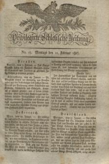 Privilegirte Schlesische Zeitung. 1827, No. 19 (12 Februar) + dod.