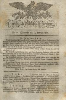 Privilegirte Schlesische Zeitung. 1827, No. 20 (14 Februar) + dod.