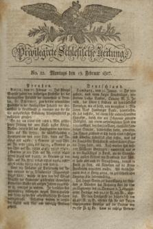 Privilegirte Schlesische Zeitung. 1827, No. 22 (19 Februar) + dod.
