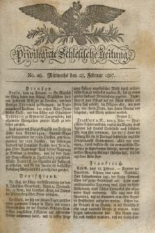 Privilegirte Schlesische Zeitung. 1827, No. 26 (28 Februar) + dod.