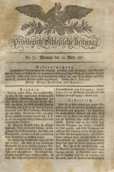 Privilegirte Schlesische Zeitung. 1827, No. 31 (12 März) + dod.