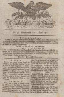 Privilegirte Schlesische Zeitung. 1827, No. 45 (14 April) + dod.
