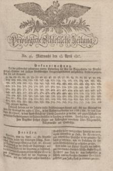 Privilegirte Schlesische Zeitung. 1827, No. 46 (18 April) + dod.