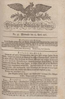 Privilegirte Schlesische Zeitung. 1827, No. 49 (25 April) + dod.