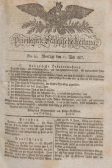 Privilegirte Schlesische Zeitung. 1827, No. 60 (21 Mai) + dod.