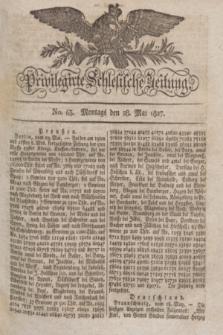 Privilegirte Schlesische Zeitung. 1827, No. 63 (28 Mai) + dod.