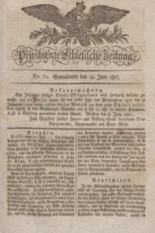 Privilegirte Schlesische Zeitung. 1827, No. 70 (16 Juni) + dod. + wkładka
