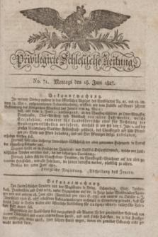 Privilegirte Schlesische Zeitung. 1827, No. 71 (18 Juni) + dod. + wkładka