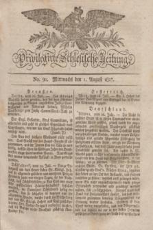 Privilegirte Schlesische Zeitung. 1827, No. 90 (1 August) + dod.