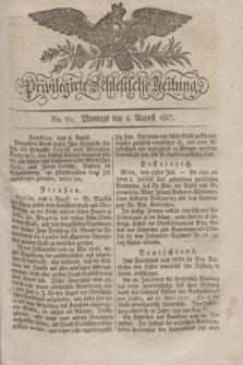 Privilegirte Schlesische Zeitung. 1827, No. 92 (6 August) + dod.