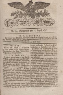Privilegirte Schlesische Zeitung. 1827, No. 94 (11 August) + dod.