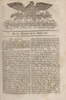 Privilegirte Schlesische Zeitung. 1827, No. 98 (20 August) + dod.