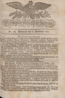 Privilegirte Schlesische Zeitung. 1827, No. 108 (12 September) + dod.