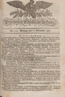 Privilegirte Schlesische Zeitung. 1827, No. 110 (17 September) + dod.