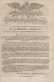 Privilegirte Schlesische Zeitung. 1827, No. 113 (24 September) + dod.