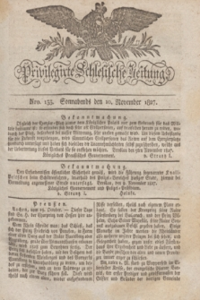 Privilegirte Schlesische Zeitung. 1827, Nro. 133 (10 November) + dod.