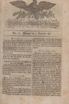 Privilegirte Schlesische Zeitung. 1827, Nro. 143 (3 Dezember) + dod. + wkładka