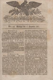 Privilegirte Schlesische Zeitung. 1827, Nro. 149 (17 Dezember) + dod.