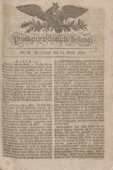 Privilegirte Schlesische Zeitung. 1828, No. 86 (11 April) + dod.