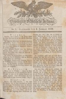 Privilegirte Schlesische Zeitung. 1830, No. 5 (6 Januar) + dod.