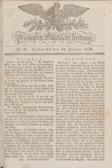 Privilegirte Schlesische Zeitung. 1830, No. 11 (13 Januar) + dod.