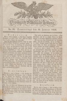 Privilegirte Schlesische Zeitung. 1830, No. 12 (14 Januar) + dod.