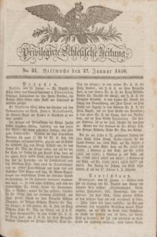 Privilegirte Schlesische Zeitung. 1830, No. 23 (27 Januar) + dod.