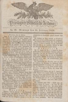Privilegirte Schlesische Zeitung. 1830, No. 39 (15 Februar) + dod.
