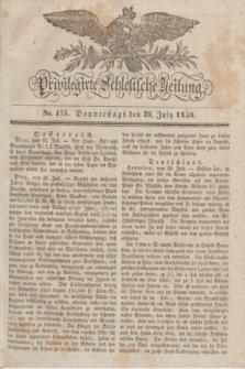 Privilegirte Schlesische Zeitung. 1830, No. 175 (29 Juli) + dod.