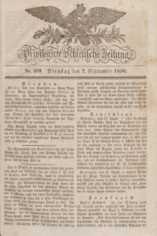 Privilegirte Schlesische Zeitung. 1830, No. 209 (7 September) + dod.