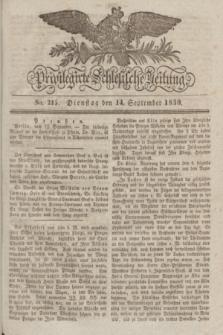 Privilegirte Schlesische Zeitung. 1830, No. 215 (14 September) + dod.
