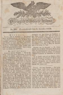 Privilegirte Schlesische Zeitung. 1830, No. 231 (2 October) + dod.