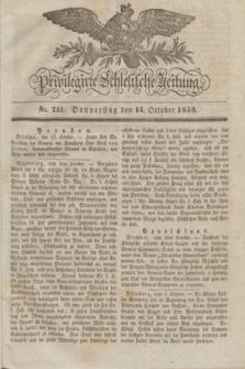 Privilegirte Schlesische Zeitung. 1830, No. 241 (14 October) + dod.