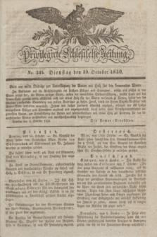 Privilegirte Schlesische Zeitung. 1830, No. 245 (19 October) + dod.