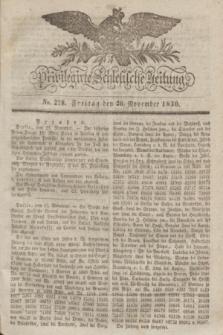 Privilegirte Schlesische Zeitung. 1830, No. 278 (26 November) + dod.