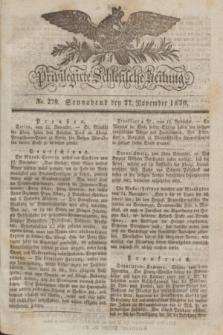 Privilegirte Schlesische Zeitung. 1830, No. 279 (27 November) + dod.