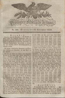 Privilegirte Schlesische Zeitung. 1830, No. 280 (29 November) + dod.