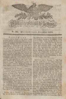 Privilegirte Schlesische Zeitung. 1830, No. 282 (1 December) + dod.