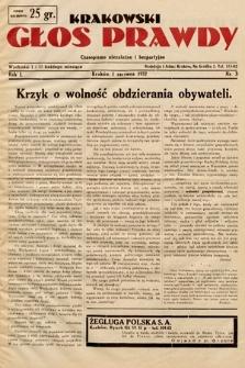 Krakowski Głos Prawdy : czasopismo niezależne ibezpartyjne. 1932, nr3