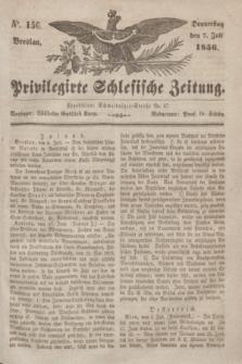 Privilegirte Schlesische Zeitung. 1836, No. 156 (7 Juli) + dod.