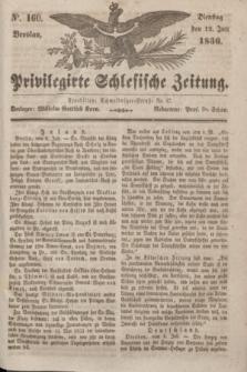 Privilegirte Schlesische Zeitung. 1836, No. 160 (12 Juli) + dod.
