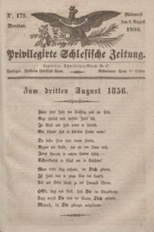 Privilegirte Schlesische Zeitung. 1836, No. 179 (3 August) + dod.