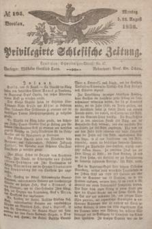 Privilegirte Schlesische Zeitung. 1836, № 195 (22 August) + dod.
