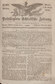 Privilegirte Schlesische Zeitung. 1836, № 201 (29 August) + dod.