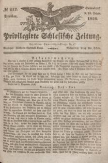 Privilegirte Schlesische Zeitung. 1836, № 212 (10 September) + dod.
